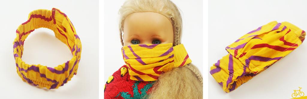 Hier siehst du Bilder von einer Alltagsmaske für Puppen.