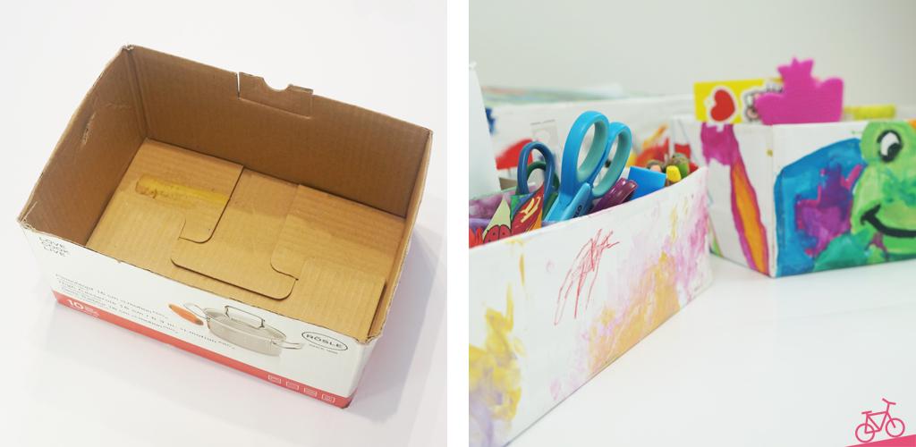 HIer siehst du eine unbeklebte Kiste und das fertige Ergebnis.