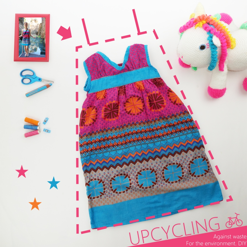 Mein Instagram Beitrag zum Upcycling von einem alten Kleid für meine Tochter