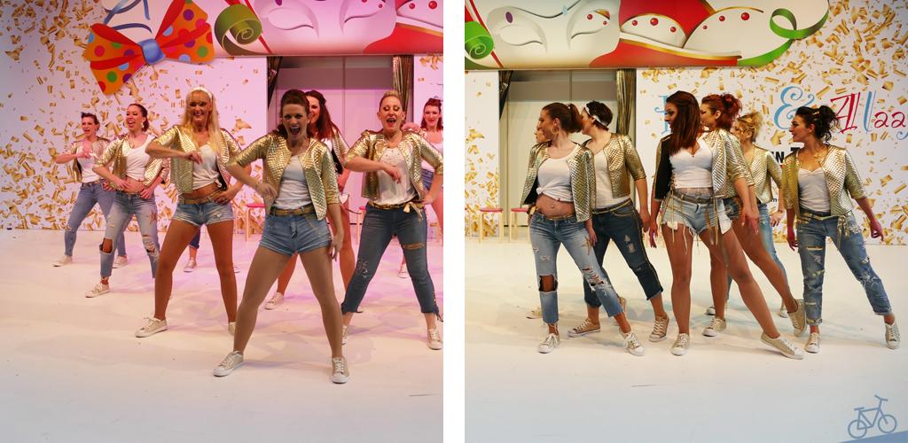 Tanzgruppe beim Faschingsauftritt