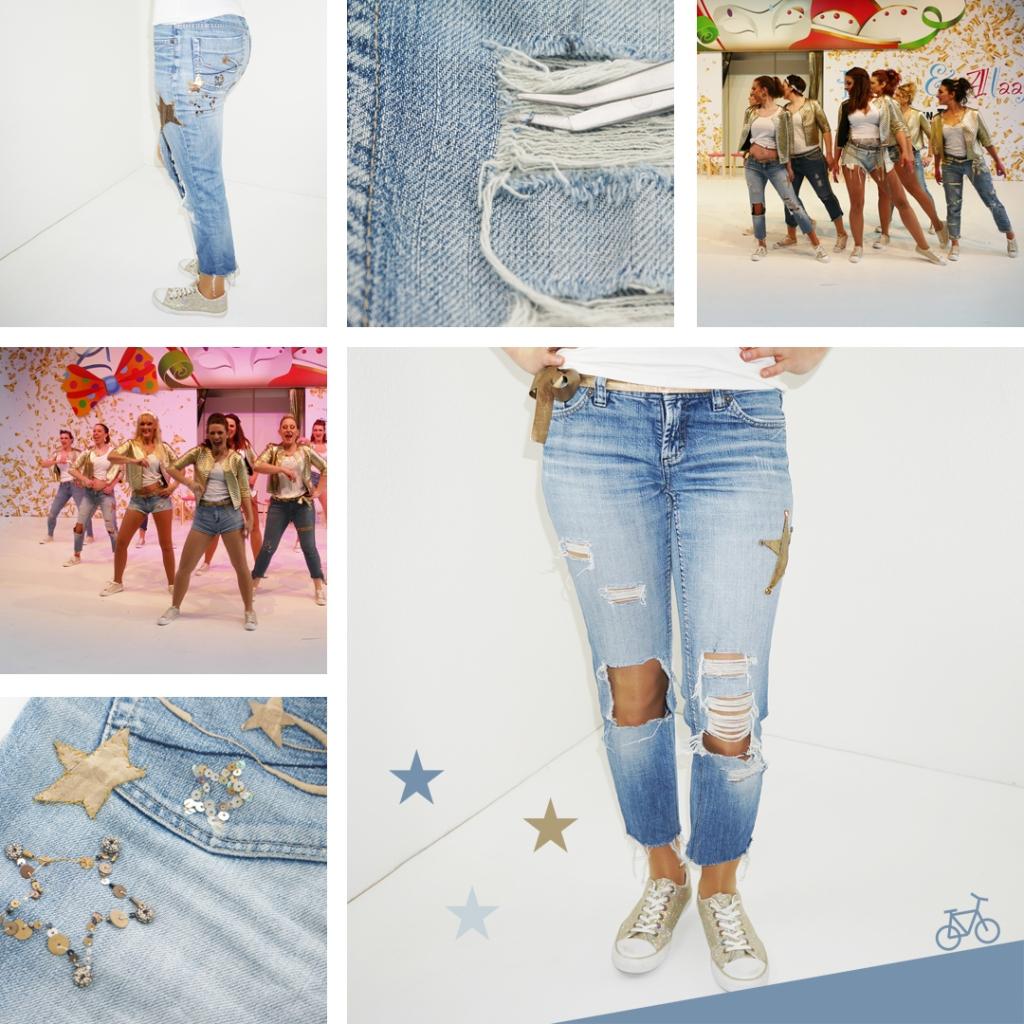 Hier siehst du die Destroyed Jeans in groß und in Action bei den Auftritten.