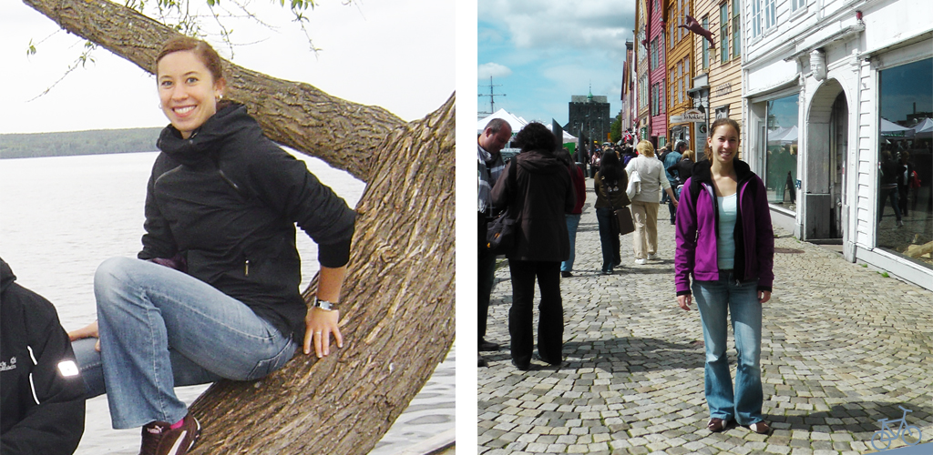 Bilder aus Schweden und Norwegen, auf denen ich die ursprüngliche Jeans trage.