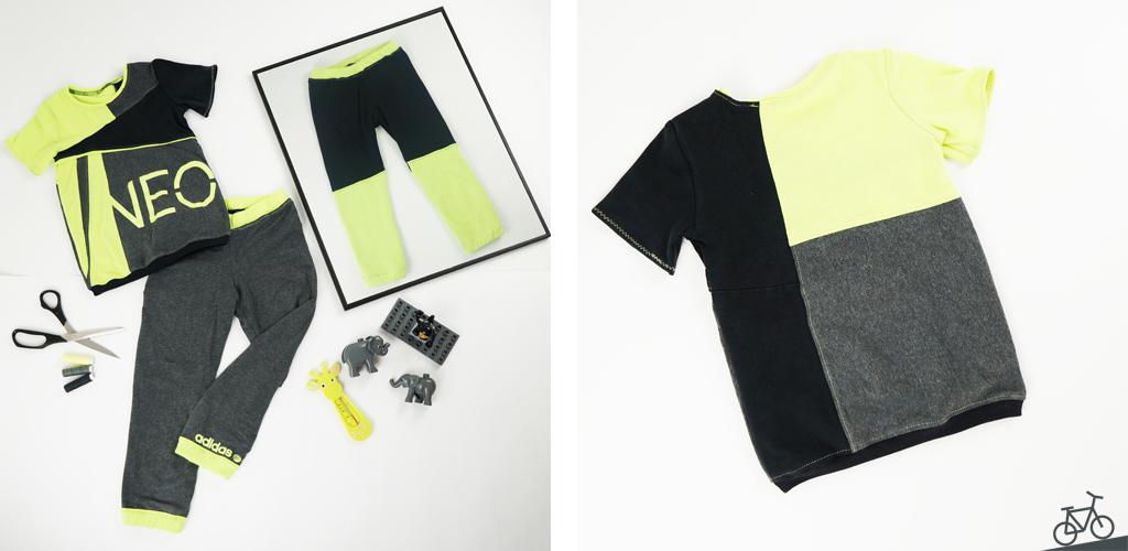 Set mit T-Shirt und einer Wendehose