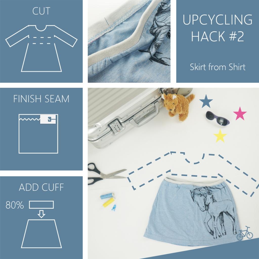 Anleitung für einen Rock aus einem alten Shirt