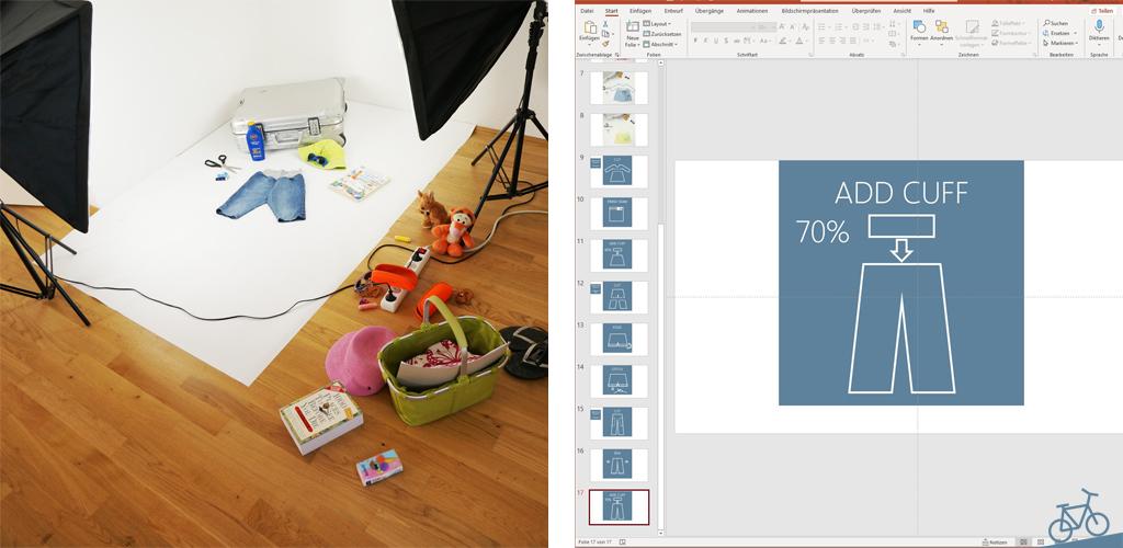 Foto-Set und PowerPoint Präsentation für Grafiken in diesem Blog
