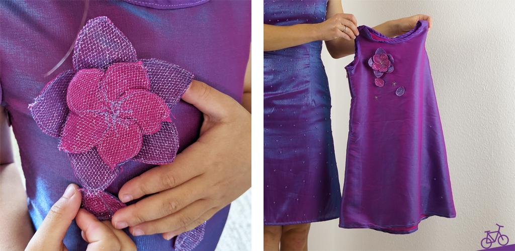 Kleines Partner-Look-Kleid von der Mama für die Tochter.